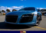 Production (Stock) Audi R8, <p>With headlight protection</p>