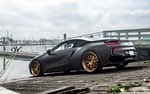 Production (Stock) BMW i8, BMW i8 - Matte Black BMW i8 Stuns With Bronze Wheels | Carscoops Source: <a href='https://www.carscoops.com/2017/10/matte-black-bmw-i8-stuns-with-bronze/' target='_blank'>https://www.carscoops.com/...</a>