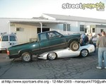 Crash Chevrolet Corvette, 'A Corvette is no place to park your truck!'