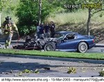 Crash Dodge Viper,  Who brought the marshmellows? Just joking! Our condolences goes out to the owner of the Viper!