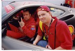 Racing Ferrari 360 Modena, Jesse James and me at the Montreal Ferrari Challenge.