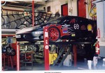 Racing Ferrari 360 Modena, Jesse James' Challenge car at his shop in Long Beach.