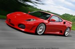 Production (Stock) Ferrari F430, Ferrari Novitec-Rossi F430 Coupe  Engine Type: V8 Displacement cu in (cc): 263 (4308) Power bhp (kW) at RPM: 636(474) / n.a. Torque lb-ft (Nm) at RPM: n.a. Redline at RPM: n.a.  Brakes & Tires Brakes F/R: ABS, vented disc/vented disc Tires F-R: n.a. Driveline: Rear Wheel Drive  Exterior Dimensions & Weight Length ? Width ? Height in: 176.6 ? 75.7 ? n.a. Weight lb (kg): n.a.  Performance Acceleration 0-62 mph s: 3.7 Top Speed mph (km/h): 216 (348) Fuel Economy EPA city/highway mpg (l/100 km): n.a