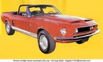 Production (Stock) Ford Mustang, 1968 -Ford - Mustang - 2250