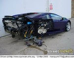 Crash Lamborghini Gallardo, The Owner of this ride must have been horrified. We know we would have been.