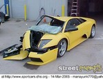 Crash Lamborghini Gallardo, This must hurt emotionally and in the bank account!