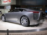Concept Cars Lexus LF-A, Lexus LF-A concept Vehicle: Lexus LF-A concept Engine: High-output double overhead cam V-8 Horsepower: More than 500 hp Height: 48.0 inches Width: 73.2 inches Length: 173.2 inches