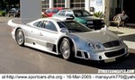 Production (Stock) Mercedes-Benz CLK-GTR,  This picture came from Trey Wilkinson (Ft. Lauderdale FL.) He spotted this million dollar Mercedes CLK GTR parked in front of his local Mercedes dealership. Only a handful of these vehicles were built for street use. This car definitely sticks out from the crowd.