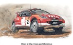 Art Peugeot 206 WRC, a drawing of the Peugeot 206 from the World rally championship