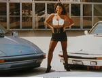 Women Porsche 911, This is in front of the Los Angeles Forum.