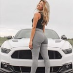 Women Ford Mustang, a person sitting in a car